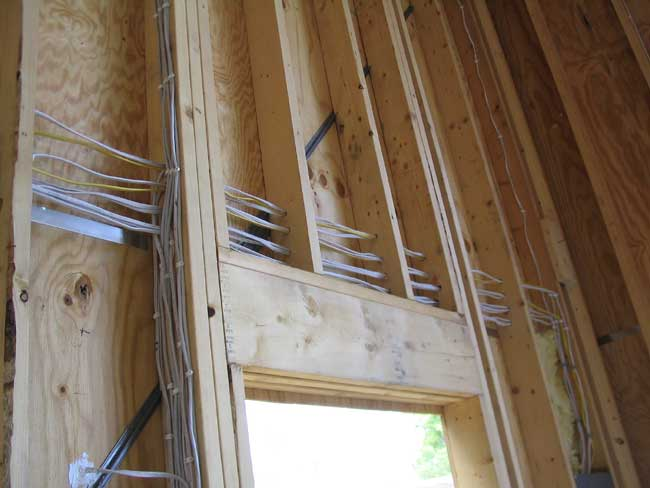 Electrical Wire: Running Electrical Wire Through Studs