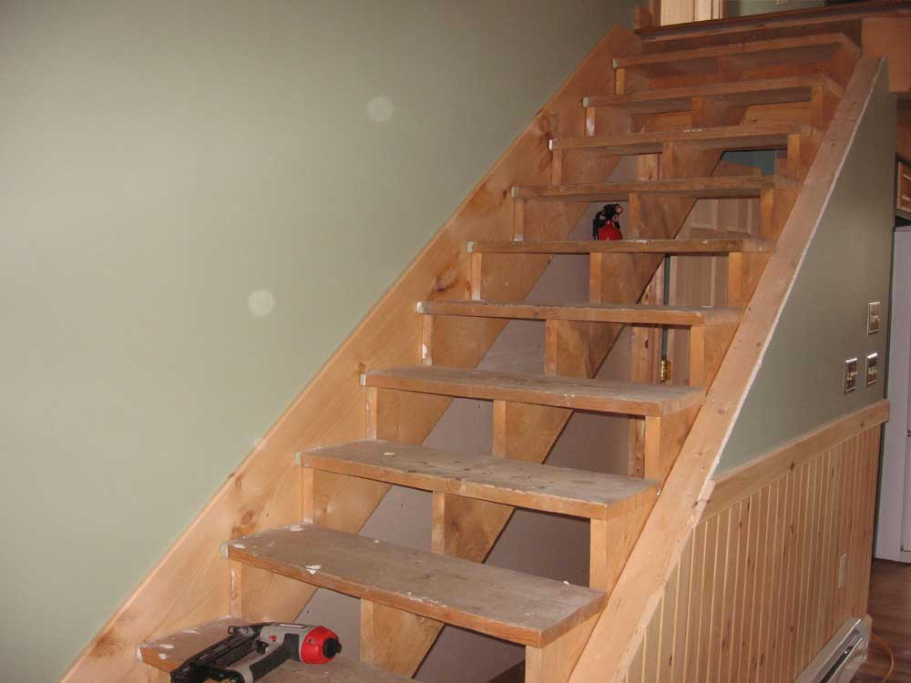 Genial I Began With The Skirtboard On The Inside Wall Of The Stairs. Using A  Framing