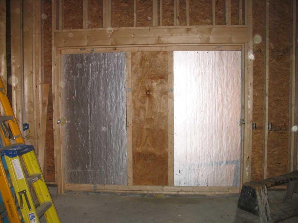 Exterior door insulation trim home design for Exterior door insulation