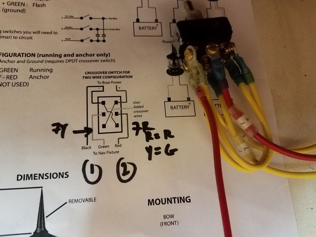 Lackey Sailing Jasmine 65 End Of Run Electrical Wiring Diagrams Leaving Enough Extra Wire To Allow The Panel Be Removed And Laid Flat On Countertop For Service I Labeled Terminated All Positive Ends
